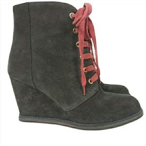 Kate Spade New York Saundra Suede Wedge Boots